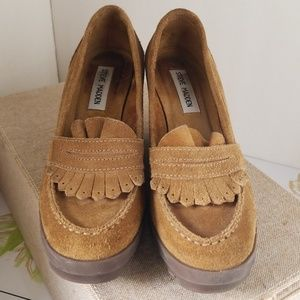 Steve Madden wedge leather heel shoes size 7